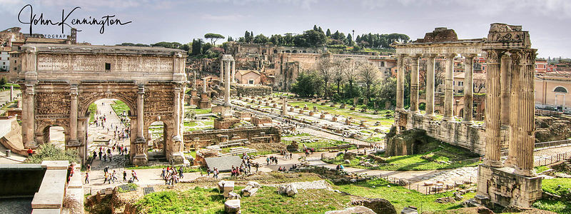 Roman Forum Panoramic, Rome, Italy