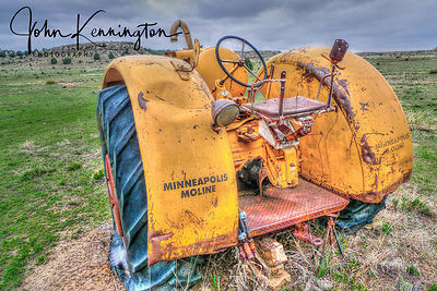 Last Ride On the Old MM Tractor, Cimarron County, Oklahoma