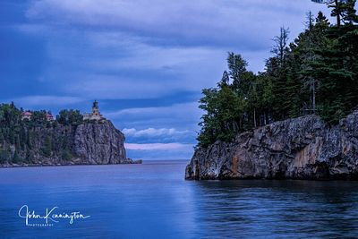 Dusk at Split Rock Lighthoue, Lake Superior, Two Harbors, Minnesota
