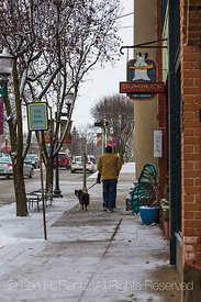 Downtown in Chelsea, Michigan,