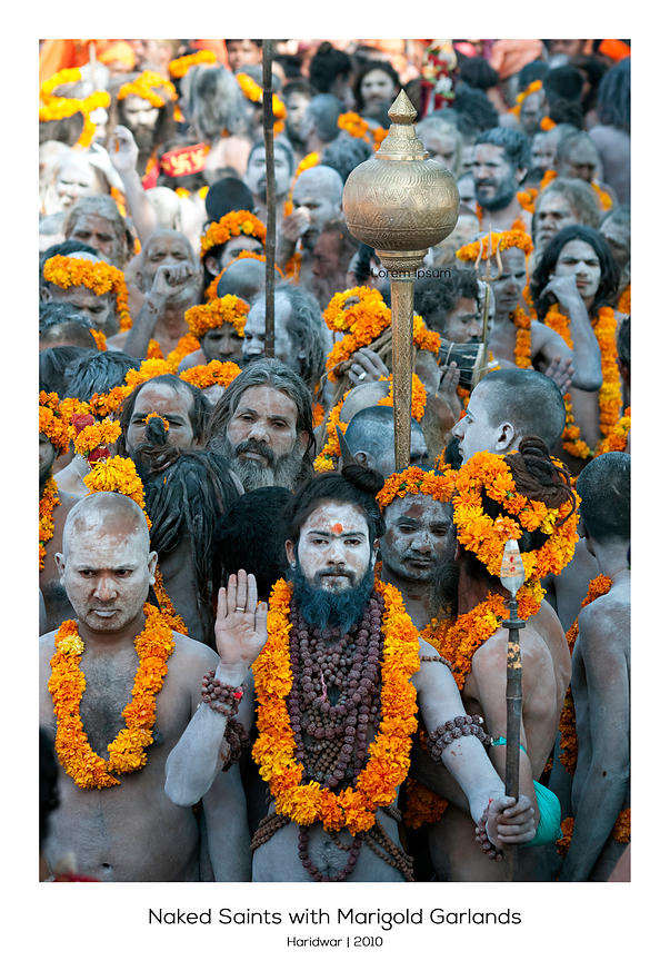Naked Saints with Marigold Garlands