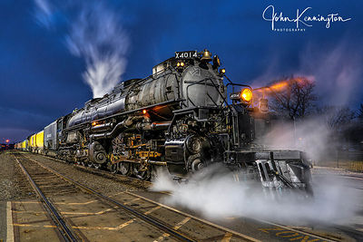 Big Boy Union Pacific #4014 Waking Up, Coffeyville, Kansas