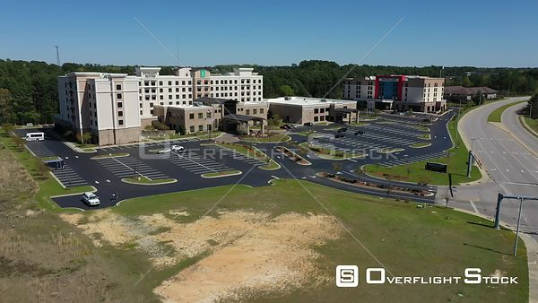 Drone Video Closed Hotel During COVID-19 Pandemic Fayetteville North Carolina