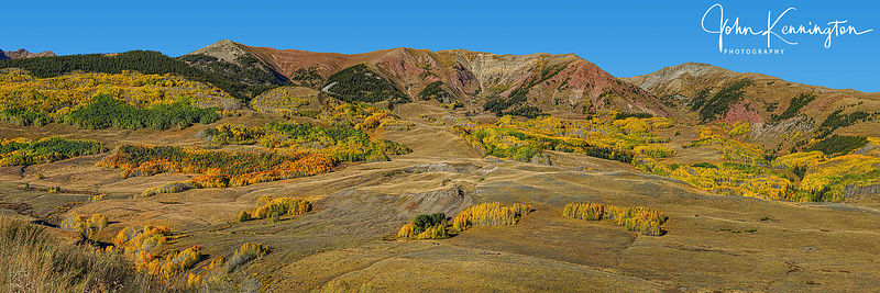 East River Valley Foothills Panoramic, Crested Butte, Colorado