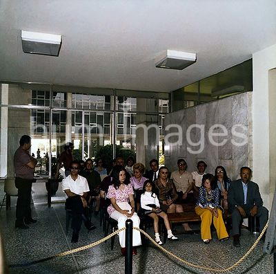 Athens - Chancery Office Building (possibly late 1970s) People waiting for meetings with chancery staff. .