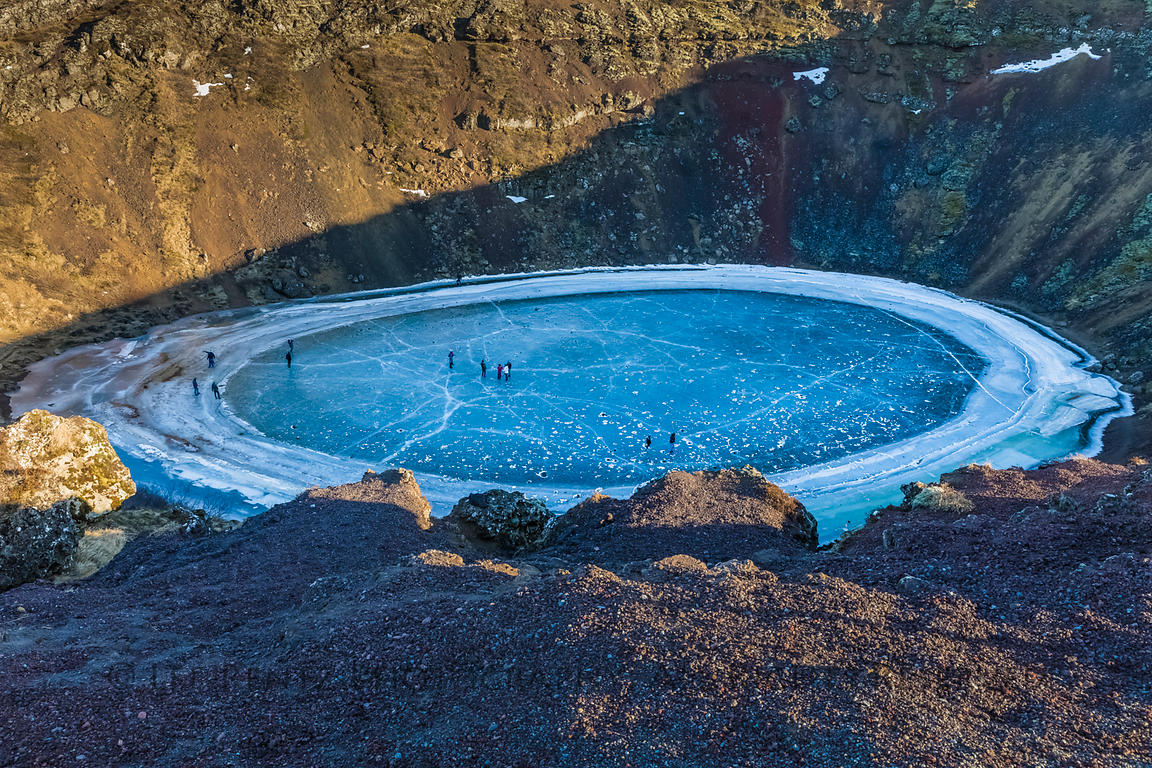Kerið Volcanic Crater Lake in Iceland