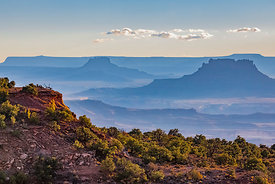 Distant Mesas in Canyonlands National Park