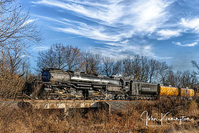 Big Boy Union Pacific #4014 near Oologah, Oklahoma