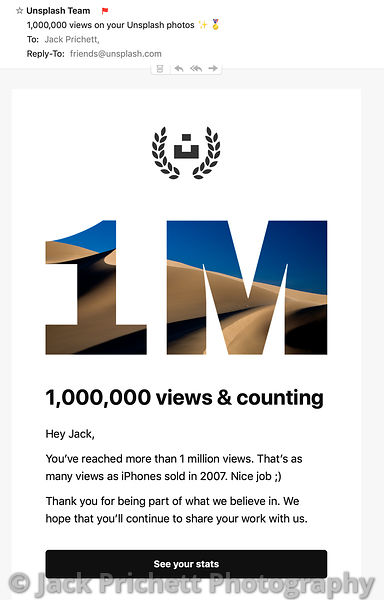 Unsplash.com 1 Million Views citation