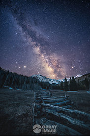 Milky Way over Mount Sneffels in the Spring Time