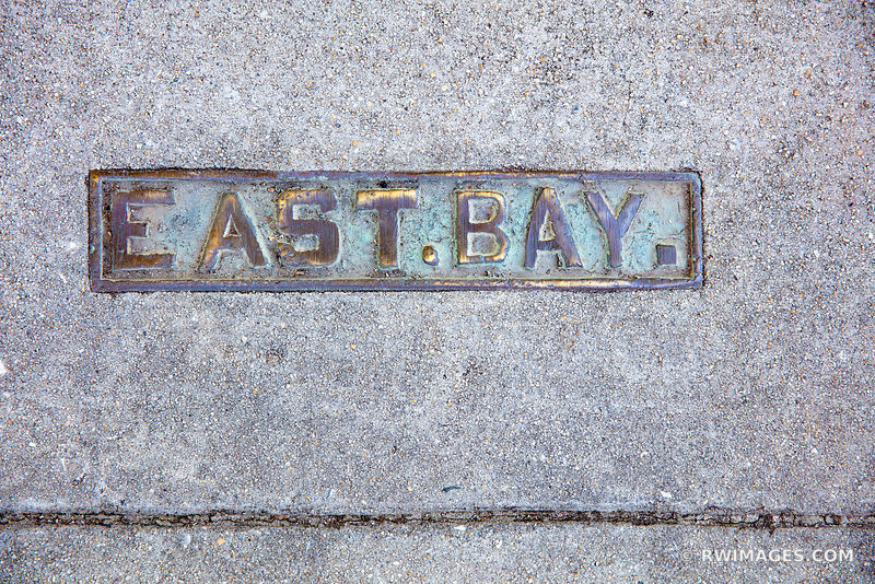 EAST BAY STREET SIDEWALK SIGN CHARLESTON SOUTH CAROLINA