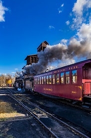 Passenger Train on Cumbres & Toltec Scenic Railroad