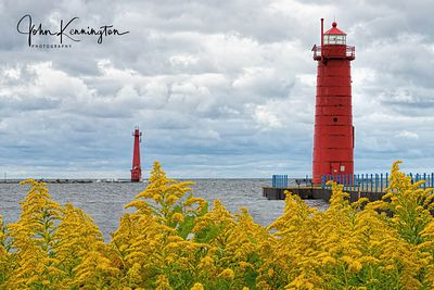 Muskegon South Pierhead Lighthouse, Lake Michigan, Muskegon, Michigan