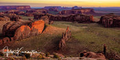Hunts Mesa First Light Panoramic, Navajo Nation, Arizona