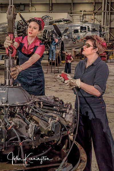 Rosie the Riveters Working at the Willow Run Bomber Plant No. 6, Belleville, Michigan