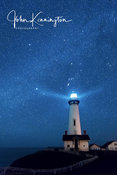 Orion Over Pigeon Point Light, Pescadero, California