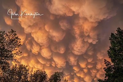 Mammatus Clouds at Sunset, Bixby, Oklahoma