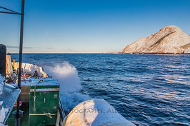 Ferry Smashing into Waves along South Coast of Newfoundland