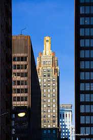 CARBIDE AND CARBON BUILDING CHICAGO ART DECO ARCHITECTURE CHICAGO ILLINOIS COLOR VERTICAL