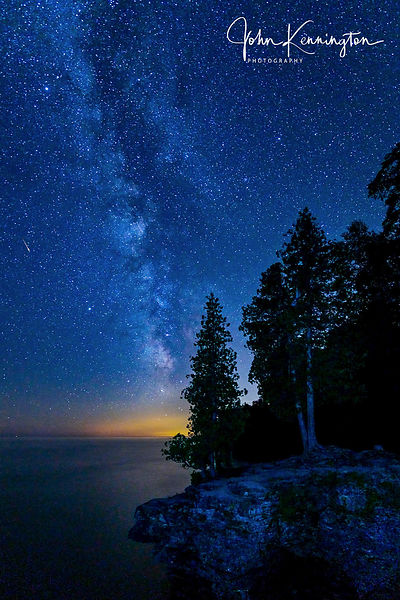 Milky Way Over Cave Point No. 1, Door County, Wisconsin