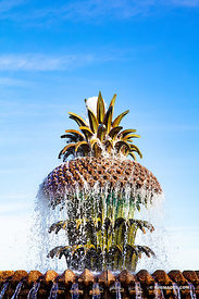 PINEAPLLE FOUNTAIN WATERFRONT PARK CHARLESTON SOUTH CAROLINA VERTICAL