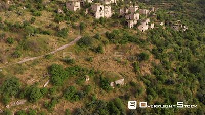 Aerial View of Lifta Abandoned Palestinian Village from Jerusalem
