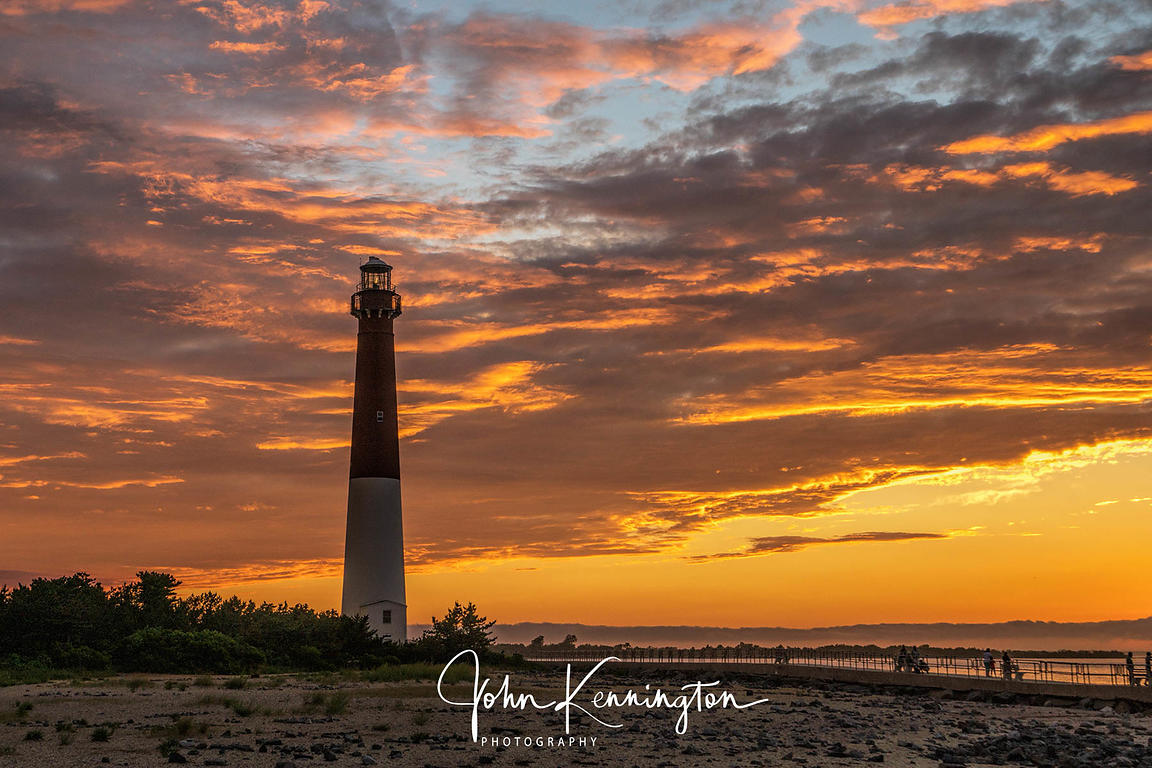 Old Barney at Sunset, Barnegat Lighthouse, Long Beach Island, New Jersey