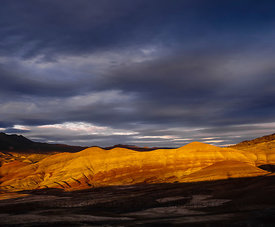Dramatic Light on Painted Hills of Oregon