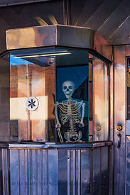 Strand Theater Box Office Ready for Halloween in Helper, Utah