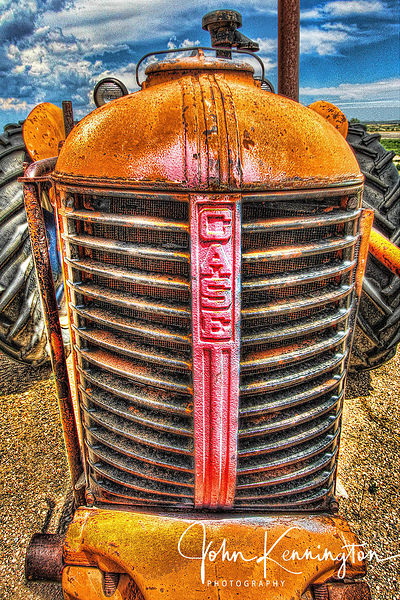 Case Tractor Grill, Route 66, Moriarty, New Mexico