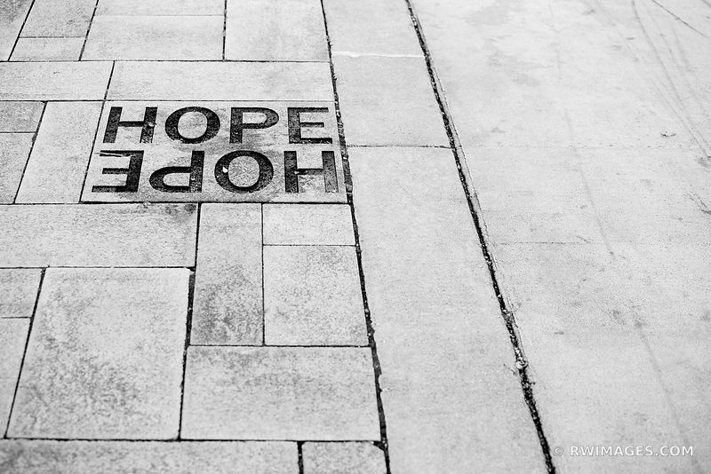 HOPE CHICAGO ILLINOIS BLACK AND WHITE