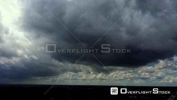 Fast moving dark storm clouds 4k