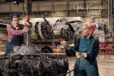 Rosie the Riveters Working at the Willow Run Bomber Plant No. 5, Belleville, Michigan