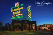 Meadowgold Neon Sign, Route 66, Tulsa, Oklahoma