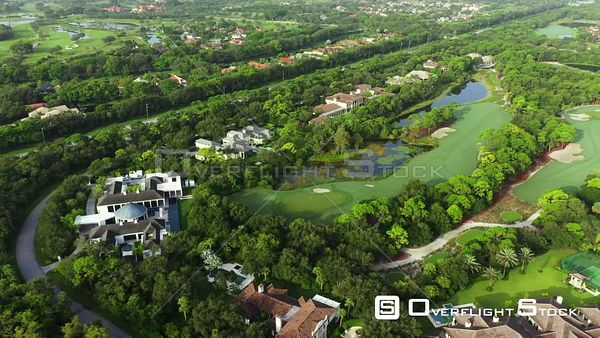 Luxury South Florida Mansions The Bears Club golf community 4k aerial