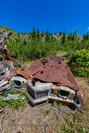 Miners Car in Mount St. Helens National Volcanic Monument