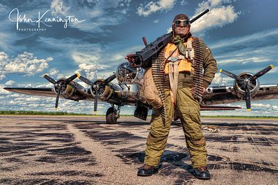 Ready For a Mission on the B-17 Yankee Lady, Yankee Air Museum, Michigan