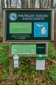 Sign for Trillium Ravine Nature Preserve
