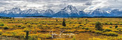 Antelope Flats Panoramic, Grand Teton National Park, Wyoming