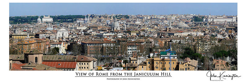 Roman Skyline Panoramic, Rome, Italy