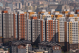 A view of the cityscape of Ulaanbaatar, Mongolia