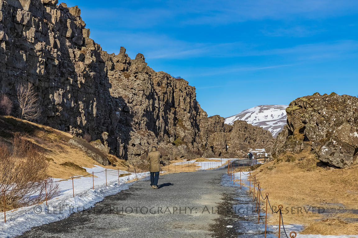 Almannagjá Gorge in Thingvellir National Park in Iceland