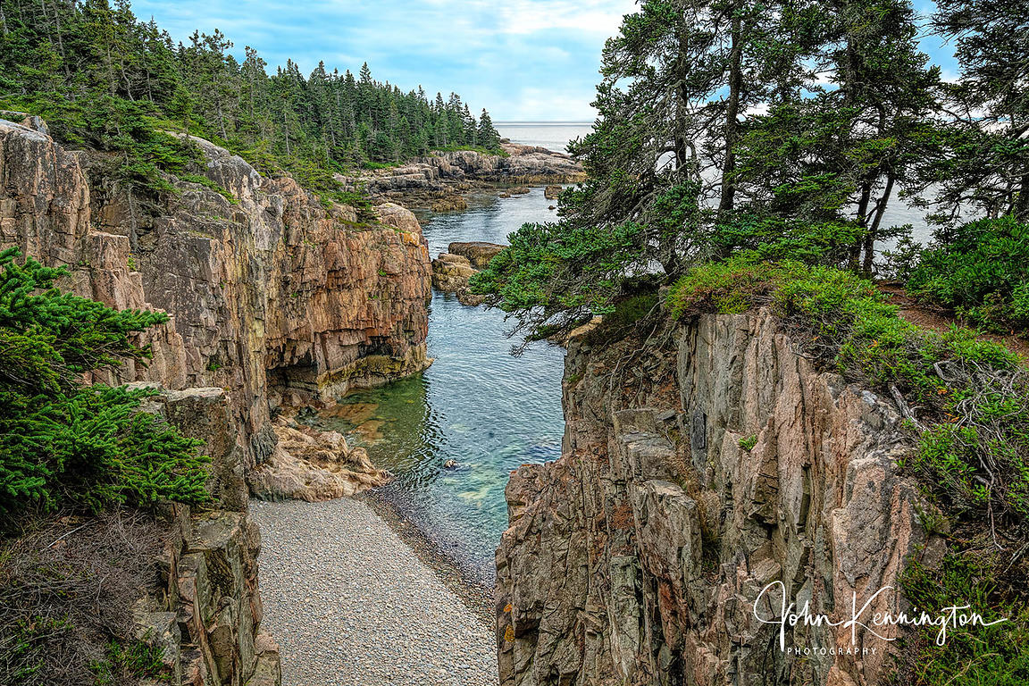 Stone Beach at Schoodic Point, Maine