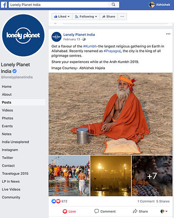 Lonley Planet; Kumbh Mela Images; February 2019