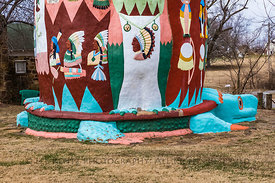 Ed Galloway's Totem Pole Park along Route 66 in Oklahoma