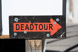 Deadtour Sign in Pioche, Nevada