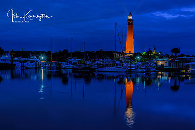 Twilight at Ponce de Leon Inlet Lighthouse, Ponce Inlet, Florida