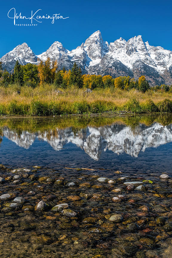 Snake River Reflection (Vertical), Grand Teton National Park, Wyoming