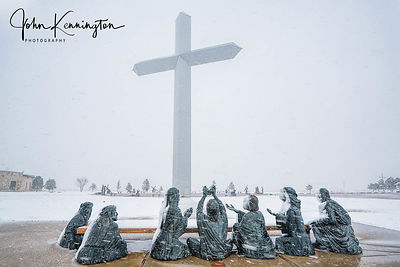 Blizzard at The Cross Of Our Lord No. 3, Groom, Texas
