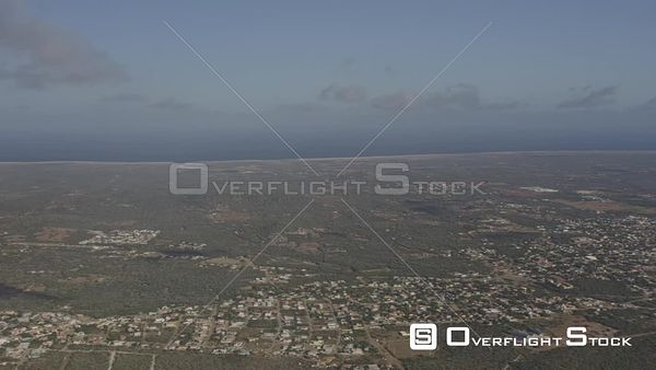 Bonaire Caribbean Panning high above island and Klein